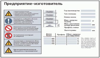 Инструкция осмотра стеллажей